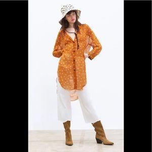 Zara Oversized Sheer Blouse